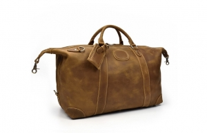 brown leather overnight bag case