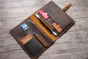 personalized leather laptop case