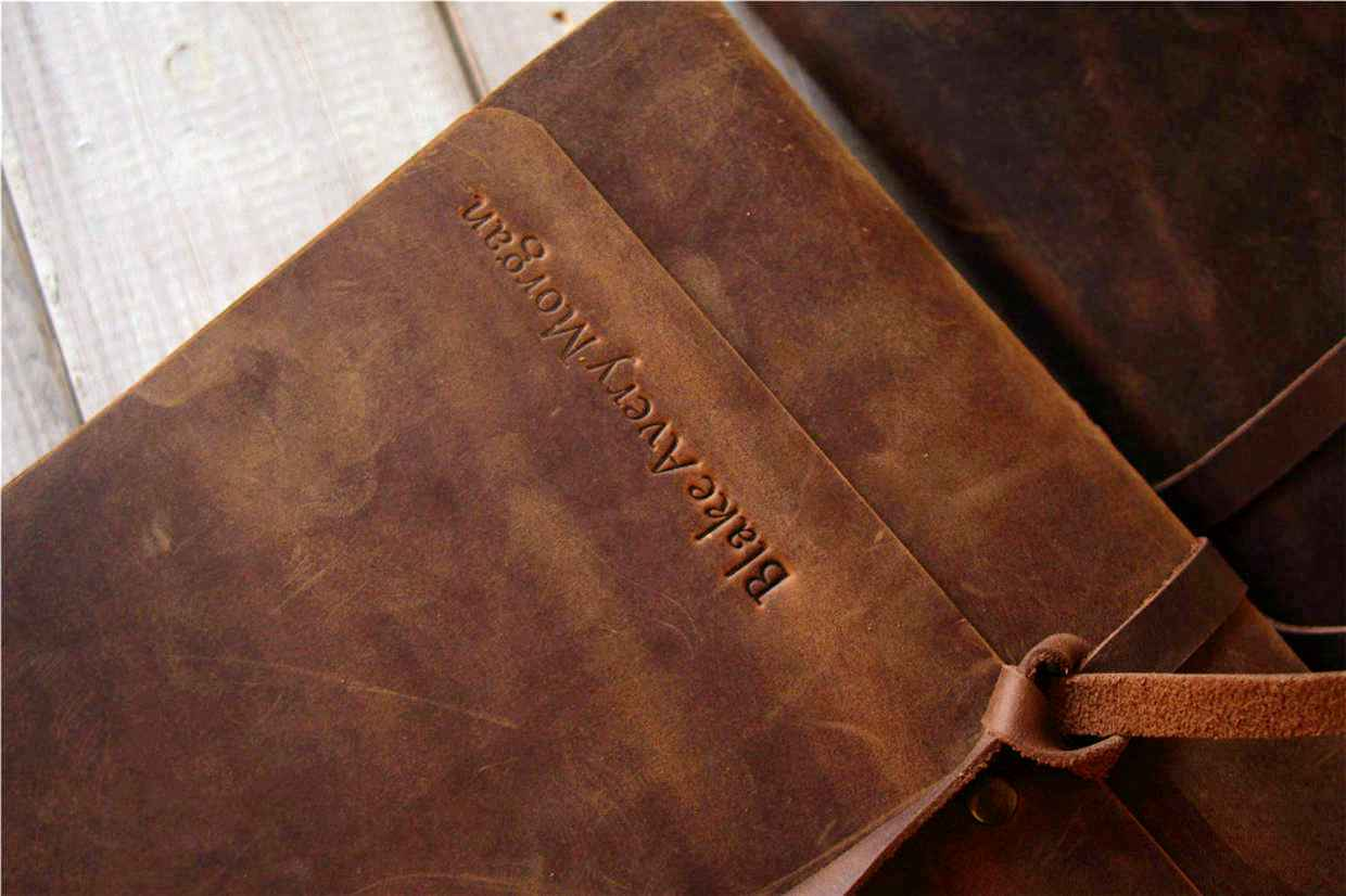 custom leather gifts for men