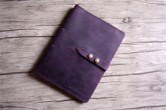 B5 leather notebook cover