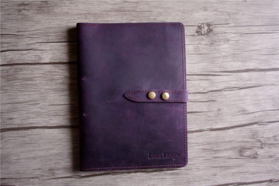 refillable leather journal cover holder