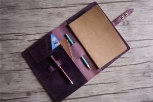 custom leather notebooks refillable womens