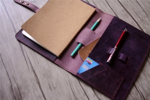 refillable A5 leather notebook cover holder