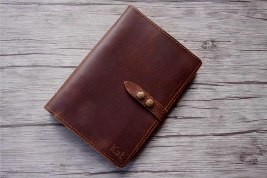 custom leather refillable notebook journal binder