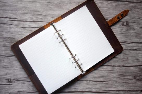 handmade leather binder notebook