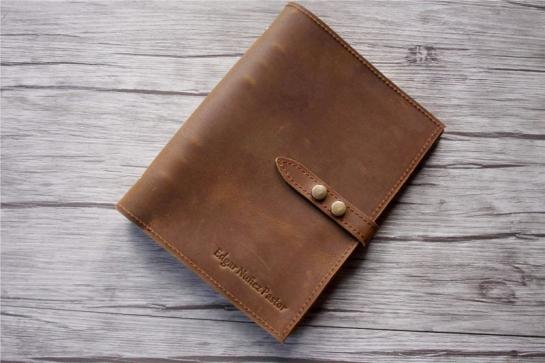 vintage a5 leather notebook custom binder