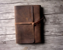 personalized leather notebook