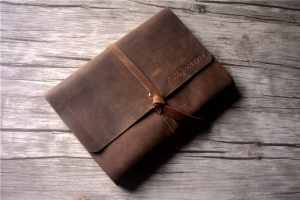 brown leather notebook cover