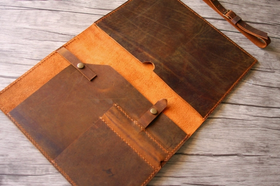 handmade macbook pro leather cover