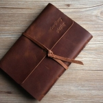 monogrammed mens leather notebook cover B5