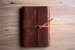 vintage leather notebook cover